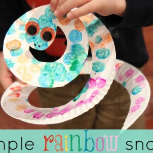 Mom and Tot Craft Time: Simple Rainbow Snake