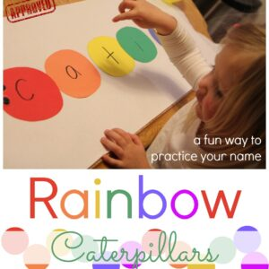 Rainbow Caterpillars {Name Matching Activity}