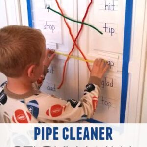 Pipe Cleaner Rhyming Sticky Wall