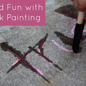 Word Fun with Chalk Painting