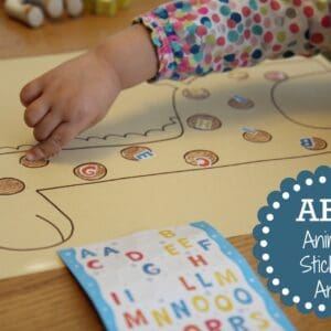 Mom and Tot Craft Time: ABC Sticker Animal Art