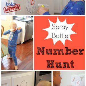 Spray Bottle Number Hunt with The Gruffalo