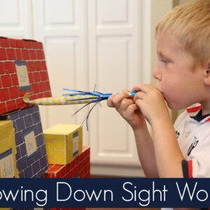 Blowing Down Sight Words {Get Ready for K Through Play}