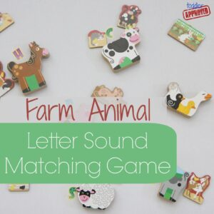 Farm Animal Letter Sound Matching Game