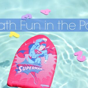 Math Fun in the Pool {Get Ready for K Through Play}