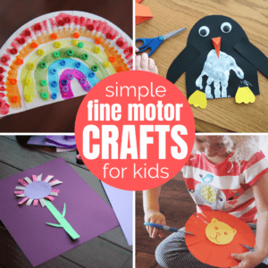 Fine Motor Skills Crafts for Kids {Get Ready for K Through Play}