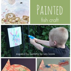 Water Gun Painted Fish Craft {Water Week}