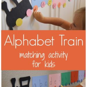 Alphabet Train Matching Activity for Kids {Donald Crews Virtual Book Club Blog Hop}