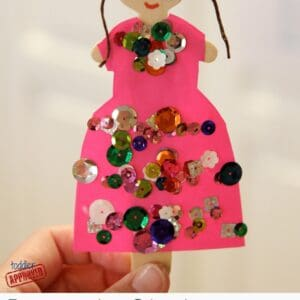 Popsicle Stick Princess Craft {Mom and Tot Craft Time}