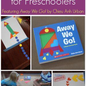 Shape Activities for Preschoolers {Away We Go! Review & Giveaway}