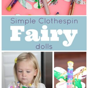 Simple Clothespin Fairy Dolls {& Fairytales}