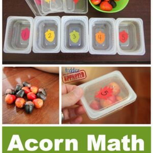 Acorn Math {Busy Bag for Kids}