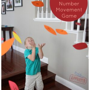 Fall Leaf Number Movement Game