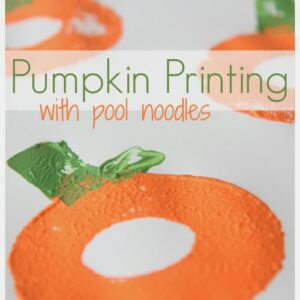 Pumpkin Printing with Pool Noodles