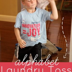 Alphabet Laundry Toss Game for Kids