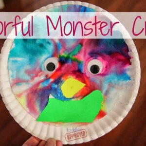 Colorful Paper Plate Monster Craft
