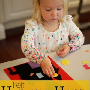 Play with Colors: Felt Haunted House {Busy Bag  for Kids}