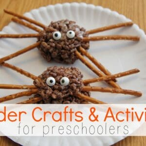 Spider Crafts & Activities for Preschoolers {Preschool Spotlight}