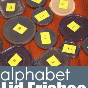 Alphabet Lid Frisbee Game