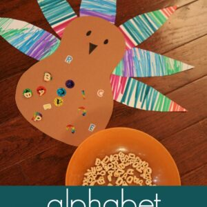 Alphabet Turkey Matching Game