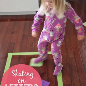 Skating on Letters {Move & Learn}