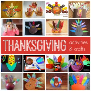 Simple Thanksgiving Activities & Crafts