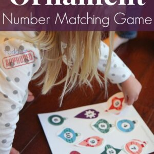 Ornament Number Matching Game {+ Free Printable}