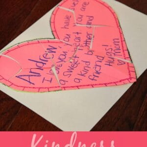 Kindness Love Note Puzzles for Kids