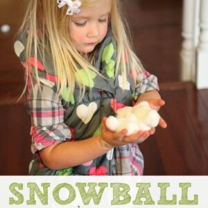Indoor Snowball Number Race for Kids