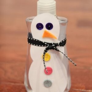 Gifts Made by Kids: Snowman Soap Bottles