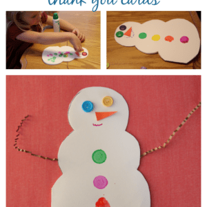 Snowman Thank You Cards for Kids