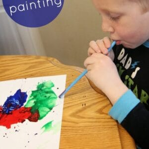 Blow Painting {Paul Galdone Virtual Book Club for Kids Blog Hop}