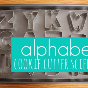 Alphabet Cookie Cutter Science {+ Learning Resources Giveaway}