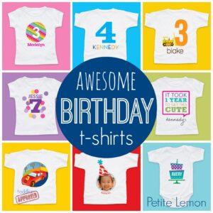 Personalized Birthday T-Shirts from Petite Lemon!