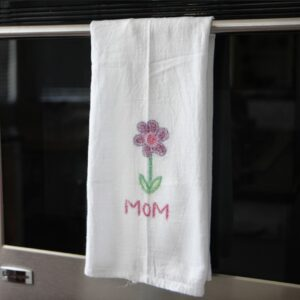 Homemade Gifts Kids Can Make: Sandpaper Printed Towels