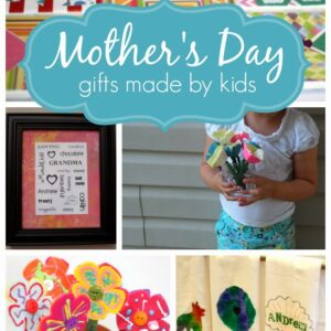 Homemade Gifts Made By Kids for Mother's Day