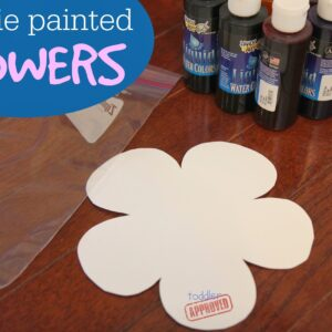 Spring Art: Baggie Painted Flowers