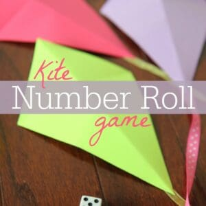 Preschool Math: Kite Number Roll Game