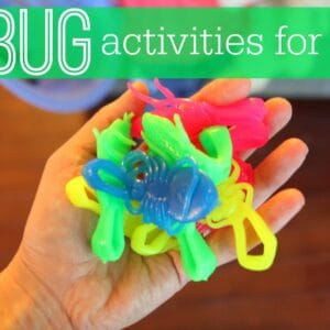Simple Bug Activities for Kids {Denise Fleming Virtual Book Club for Kids}
