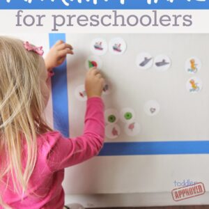Sticky Wall Matching Game for Preschoolers