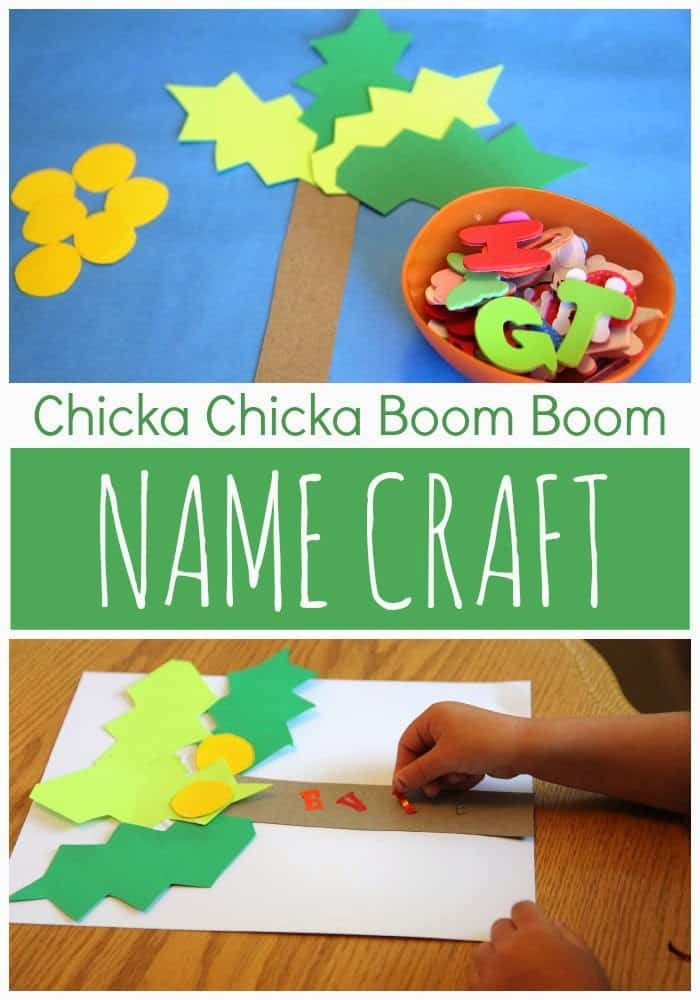Chicka Chicka Boom Boom Name Craft Toddler Approved
