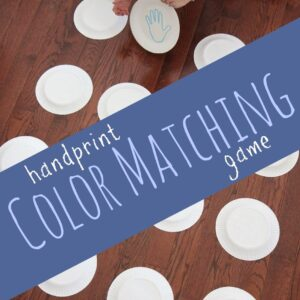 Handprint Color Matching Game {Virtual Book Club for Kids}