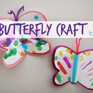 Easy Butterfly Craft for Toddlers
