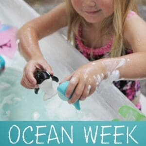 Ocean Week Number Sensory Play for Kids