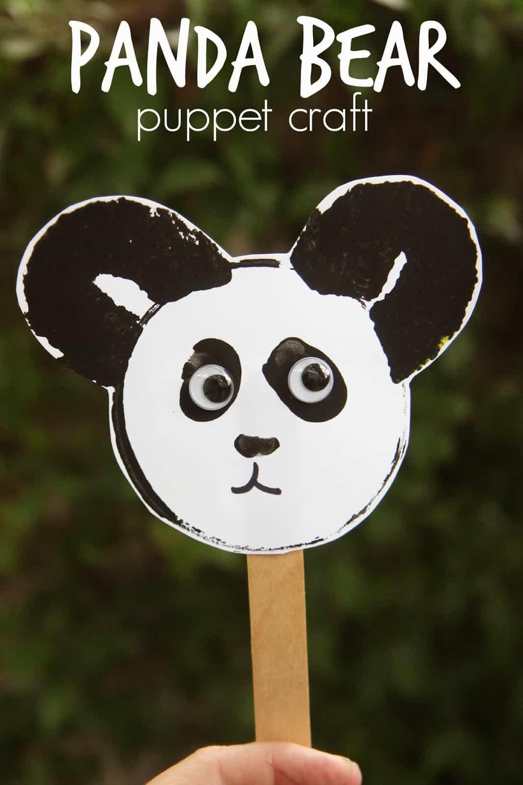 Panda Bear Puppet Craft Toddler Approved