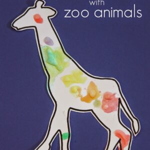 Zoo Animal Salt Painting for Kids