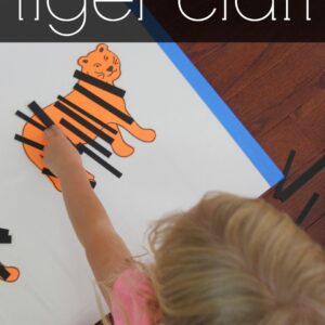Sticky Tiger Craft for Kids