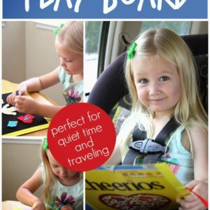 Cheerios Box DIY Portable Play Board {+ Free Printable}