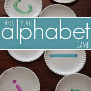 Preschool Paper Plate Alphabet Game {Back to School Basics & Reading Eggs}