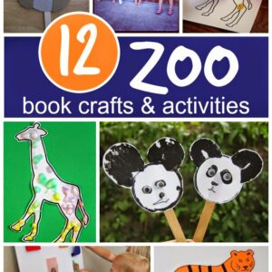 12 Book-Inspired Zoo Crafts & Activities {Aliki Virtual Book Club for Kids}